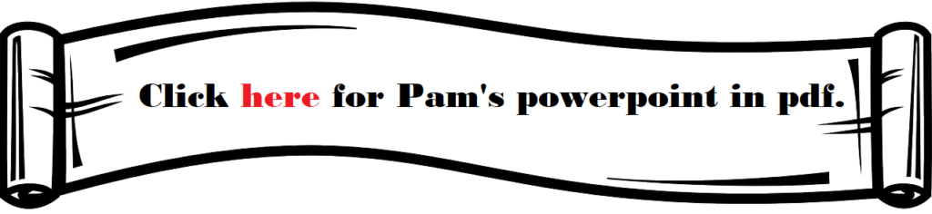 Click here for a Pam Backlund powerpoint.